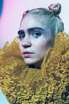 "wallfuck: """" Grimes for Elle Girl photographed by Monika Mogi "" """