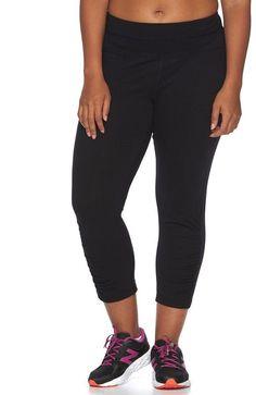 d2c4b8b9511 Plus Size Tek Gear® Ruched-Leg Capri Yoga Leggings