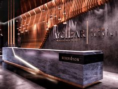 Reception Counter Design, Office Reception Design, Design Studio Office, Modern Office Design, Office Interior Design, Modern Offices, Reception Desks, Gym Design, Modern Interior