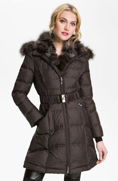 This would be my casual, everyday winter coat.    Yes, please!  :D  Dawn Levy Down Coat with Genuine Fox Fur Trim available at #Nordstrom
