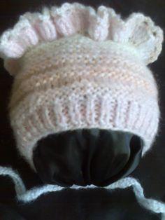 Детская шапочка (чепчик) вязание на спицах ч.2  Children cap (cap) of kn...