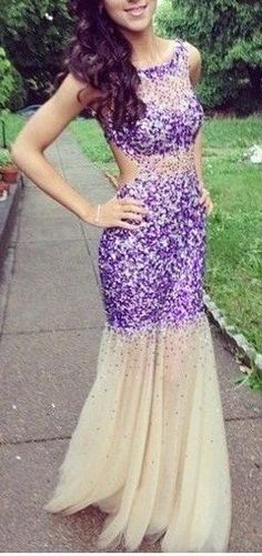 Beading Backless Sexy Long Prom Dress