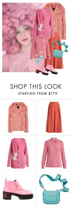 """Pink October"" by zakharova-83 ❤ liked on Polyvore featuring Ashish, Burberry, Roksanda, Natasha Zinko, Gucci, Sies Marjan and DaVonna"