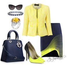 """""""Blue and Yellow"""" by izabellaml on Polyvore"""