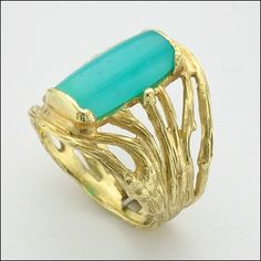 Micky Roof Twig Ring with Chrysocolla - One-of-a-kind! Made by Micky Roof for The Jewelbox in Ithaca, NY. Call or email for price and availability. Gold Price Graph, Today Gold Price, Gold Live, For You Blue, Twig Ring, Gold Bullion, Sell Gold, Custom Jewelry Design, Fine Jewelry