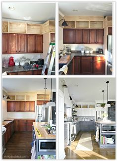trendy kitchen decor above cabinets decoration built ins Kitchen Style, Above Cabinets, Diy Kitchen Decor, Kitchen Design Diy, Diy Kitchen Remodel, Kitchen Design, Diy Kitchen, Above Kitchen Cabinets, Built In Cabinets