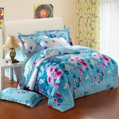 This Blossom Garden Bedding Sets is refined tastes in a contemporary design. The bold flower brings the view from a seaside cottage inside your bedroom, no matter where you live.