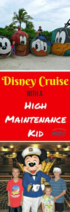 """Do you have a """"high maintenance"""" child?  One who is more anxious, more easily upset or angry than most children?  Taking a cruise with children who have special needs can be smooth sailing with lots of planning and patience!  #DisneyCruiseLine #Disney #SpecialNeedsCruise"""