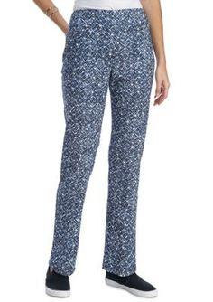 Ruby Rd  Seaside Chic WoodBlock Ikat Print Pants
