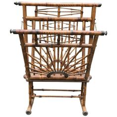 Vintage Peter Pepper Lacquer Walnut Magazine Rack ($450) ❤ liked on ...