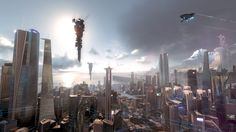 Cityscapes killzone spaceships playstation 4 shadow fall (2500x1406, killzone, spaceships, playstation, shadow, fall)  via www.allwallpaper.in