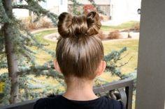 Cute hair for daughter!
