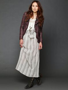 Free People Jens Pirate Booty Stripe Spinner Maxi Skirt, $148.00