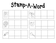 Stamp a Word Center Sheets