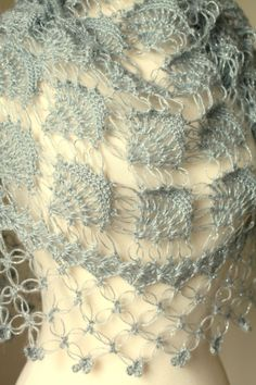 Gray Mohair Shawl // Bridal Accessories // Bridal by MODAcrochet #afs
