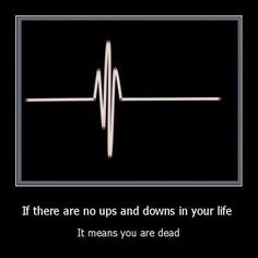 If there are no ups or downs in your life, it means you're dead.