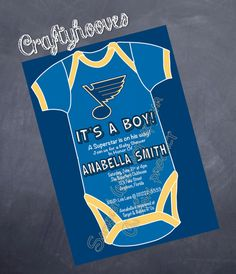 St. Louis Blues Hockey Missouri Baby Shower  by CraftyHooves