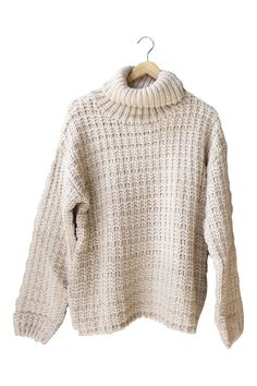 Jaclyn Knit Turtleneck in Taupe | ROOLEE