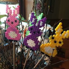 Easter ornaments hama beads by pysselrummet