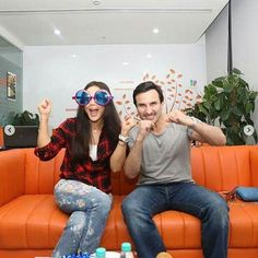 These Pictures of Preity Zinta and Saif Ali Khan from the IPL commentary box are too adorable! @filmywave  #PreityZinta #SaifAliKhan #IPL #IPL2017 #celebrity #bollywood #bollywoodactress #bollywoodactor #actor #actress #star #fashion #fashionista #bollywoodfashion #bollywoodstyle #glamorous #hot #sexy #love #beauty #instalike #instacomment #filmywave