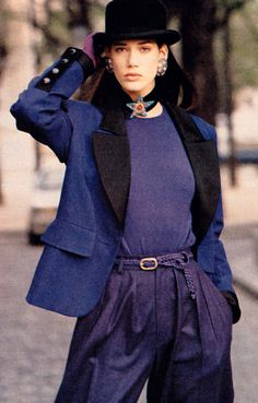 Janusz Kawa for The New York Times Magazine/Fashions of the Times, August 20, 1989. Clothing by Yves Saint Laurent Rive Gauche.