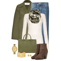 Olive Cape by snickersmother on Polyvore featuring Citizens of Humanity, Valentino, Uniqlo, rag & bone, Valextra, Evelyn Knight, Lacoste and Gurhan