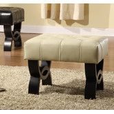 Found it at Wayfair - Central Park Leather Ottoman - as living room chair footstool $218