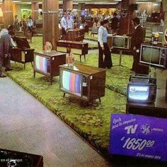 and look at the PRICE! (I still remember these televisions, and I had relatives who had those big ones that are pretty much a furniture piece on their own). Vintage Tv, Photo Vintage, Vintage Stores, Vintage Soul, Nostalgia, Radios, Foto Picture, Vintage Television, The Good Old Days