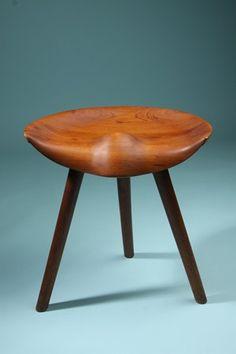 Stool, designed by Mogens Lassen, Denmark. 1950's.