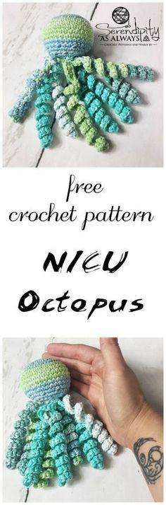 NICU Octopus - A Free Crochet Pattern #crochet #freecrochetpatterns