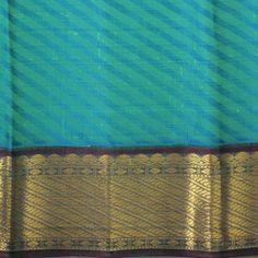 Line of Diamond border kanjivaram