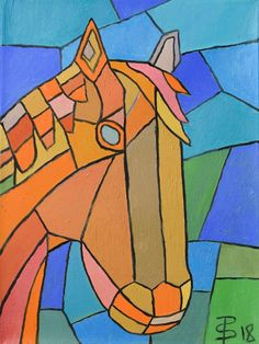 Original Horse Painting by Ted Silvera
