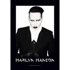 "#Bandiera ""Proper"" dedicata a Marilyn Manson con stampa."