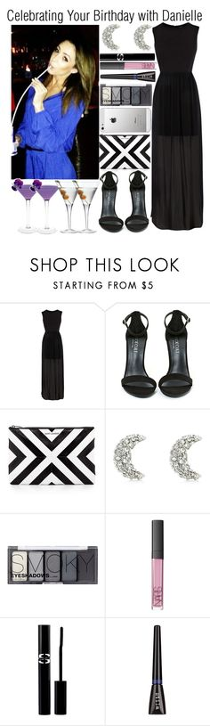 """Celebrating Your Birthday with Danielle"" by elise-22 ❤ liked on Polyvore featuring Warehouse, Shoe Cult, Yves Saint Laurent, AT&T, Juicy Couture, H&M, NARS Cosmetics, Sisley, Luigi Bormioli and birthday"