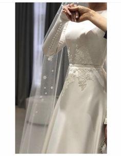 Muslimah Wedding Dress, Muslim Wedding Dresses, Bridal Wedding Dresses, Dream Wedding Dresses, Designer Wedding Dresses, Minimal Wedding Dress, Wedding Dress Sleeves, Elegant Wedding Dress, Dress Wedding
