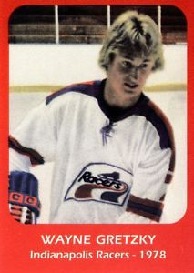 Some years after his O-Pee-Chee rookie card came out, an unlicensed company produced what looked to be a Wayne Gretzky RC from the WHA. Hockey Cards, Baseball Cards, States In Usa, Wayne Gretzky, Edmonton Oilers, Hockey Players, Nhl, Good Books, Athletes