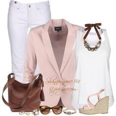 """""""Neapolitan"""" Classy Outfit Set by shannonmarie-94, via Polyvore."""