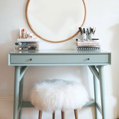 Even if you don't have a lot of room or cash, you can create a unique, fun and functional beauty vanity that you'll love. Whether you repurpose something you find at a thrift store or build something from scratch, you'll end up with your own oasis where you can go to get ready to face the world.