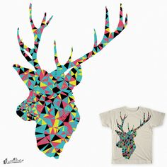 abstract deer on Threadless