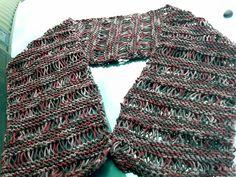 brown garter drop stitch scarf $10 + postage pick up Woodcroft Adelaide