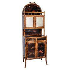 Superb English Bamboo Side Cabinet