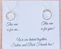 SISTER Necklace Sister Jewelry Sister POEM by SoBlessedDesigns