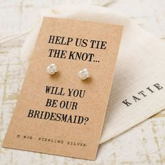 Are you interested in our Bridesmaid ? With our Will you be my Bridesmaid you need look no further. @notonthehighst #tietheknot #willyoubemybridesmaidgift #willyoubemybridesmaidearrings