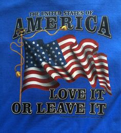 America love it or leave it Tshirt by TheShirtGirlz on Etsy  #america #usa #loveitorleaveit #patriotic #tshirt #shirt #americanflag