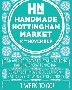 regram @hnmarkets 1 Week to go! A great place to start the festive season and your Christmas shopping!  #hnmarkets #wintermarket #Christmasmarket #christmasshopping #shoplocal #shopindependent #independentstjamesst #hiddennottm #independentnottm