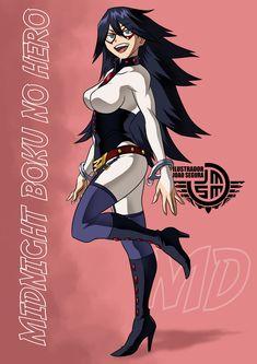 Midnight Boku No Hero Sexy by ilustradorjoaosegura on DeviantArt Anime Girl Hot, Pretty Anime Girl, Anime Love, Anime Guys, Girls Characters, Marvel Characters, Female Characters, Anime Characters, My Hero Academia Episodes