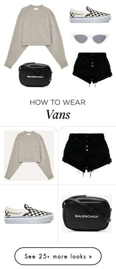 """Untitled #23337"" by florencia95 on Polyvore featuring Vans, Wilfred, Le Specs, Nobody Denim and Balenciaga"