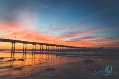 San Diego photography - Sunset photography - Ocean Beach pier - California photo - photo print - canvas - home decor - wall art by LysBleuDesigns on Etsy https://www.etsy.com/listing/268905905/san-diego-photography-sunset-photography