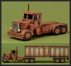 Ghost Truck Free Paper Model Template Download - http://www.papercraftsquare.com/ghost-truck-free-paper-model-template-download.html