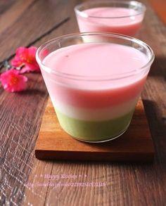 ひな祭りに3色ミルクプリン*10分で3層出来る裏ワザ | たっきーママ オフィシャルブログ「たっきーママ@happy kitchen」Powered by Ameba
